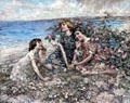 Brighouse Bay, Wild & Burnet Roses painting by Edward Atkinson Hornel of Glasgow Boys at Broughton House. Kirkcudbright, Scotland.