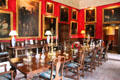 Dining room with Leith family portraits at Fyvie Castle. Turriff, Scotland