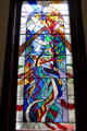 Pathways window by Nora Gaston as memorial to organ donors at Belfast City Hall. Belfast, Northern Ireland.