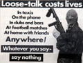 Loose-talk costs lives poster at Linen Hall Library. Belfast, Northern Ireland.