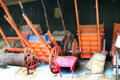 Collection of Irish carts at Ulster Folk Park. Belfast, Northern Ireland