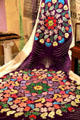 Floral pattern on purple robe at Mobile Carnival Museum. Mobile, AL.