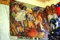 Art Deco mural of Discovery & Building by John Augustus Walker at Mobile Museum. Mobile, AL.