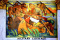 Art Deco mural of Military Courage by John Augustus Walker at Mobile Museum. Mobile, AL.