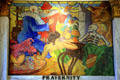 Art Deco mural of Fraternity by John Augustus Walker at Mobile Museum. Mobile, AL.