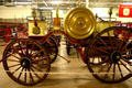 Horse drawn chemical fire engine in Hall of Flame. Phoenix, AZ.