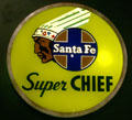 Santa Fe Super Chief light panel at California State Railroad Museum. Sacramento, CA.