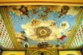 Ceiling fresco with Bishop saints in Santa Clara de Asis Mission. San Jose, CA