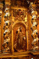 Detail of 18th c baroque Spanish altarpiece now in Our Lady of the Angels Cathedral. Los Angeles, CA.