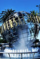 Universal Studios Globe at entrance to their Hollywood theme park. Universal City, CA.