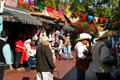 Color of Olvera Street with street musicians. Los Angeles, CA.