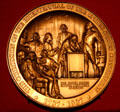 Medal commemorating 1987 bicentennial of U.S. Constitution at Reagan Museum. Simi Valley, CA.