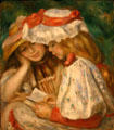 Two girls reading by Pierre-Auguste Renoir at LACMA. Los Angeles, CA.