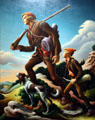 The Kentuckian painting by Thomas Hart Benton at LACMA. Los Angeles, CA