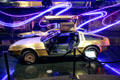 DeLorean DMC12 with 24k gold-plating at Petersen Automotive Museum. Los Angeles, CA.