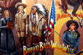 Sprits West mural showing Buffalo Bill's Wild West era at Autry National Center. Los Angeles, CA.