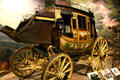 Concord mail stage coach by Abbott & Downing used by California Stage Co. at Autry National Center. Los Angeles, CA.