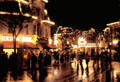 Main Street USA lit at night at Disneyland ®. Anaheim, CA.