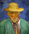 Portrait of a peasant Patience Escalier by Vincent van Gogh in Norton Simon Museum. Pasadena, CA.