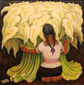 Mexico: Flower Vendor by Diego Rivera in Norton Simon Museum. Pasadena, CA.