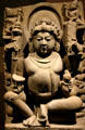 India: Kubera god of wealth of sculpted sandstone from Uttar or Madhya Pradesh, Norton Simon Museum. Pasadena, CA.