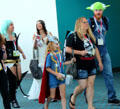 Visitors move to conference rooms at Comic-Con International. San Diego, CA.