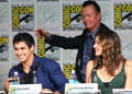 "Elyes Gabel, Robert Patrick & Katharine McPhee of ""Scorpion"" at Comic-Con International. San Diego, CA."