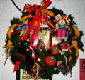 Mexican Christmas wreath in Old Town. San Diego, CA.