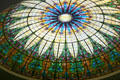 First Church of Christ Scientist stained glass ceiling. San Diego, CA.