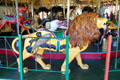 Carved lion at Balboa Park Carousel. San Diego, CA.