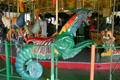 Carved sea monster at Balboa Park Carousel. San Diego, CA.