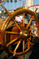 Star of India ships wheel at Maritime Museum. San Diego, CA.