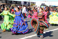 Children Cultural Center Ballet Xochitl march in Balloon Parade. San Diego, CA.