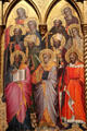 Detail of Saints from Coronation of the Virgin with Saints tempera painting by Cenni de Francesco de Ser Cenni at J. Paul Getty Museum Center. Malibu, CA.