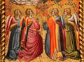 Detail of angels from Coronation of the Virgin with Saints tempera painting by Cenni de Francesco de Ser Cenni at J. Paul Getty Museum Center. Malibu, CA.