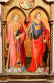 Sts. Lawrence & Stephen tempera painting by Mariotto di Nardo at J. Paul Getty Museum Center. Malibu, CA.
