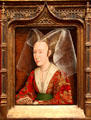 Portrait of Isabella of Portugal by workshop of Rogier van der Weyden at J. Paul Getty Museum Center. Malibu, CA