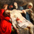 The Entombment painting by Peter Paul Rubens at J. Paul Getty Museum Center. Malibu, CA.