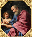 St. Matthew Writing his Gospel painting by Carlo Dolci at J. Paul Getty Museum Center. Malibu, CA.