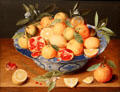 Still Life with Lemons, Oranges, & Pomegranate painting by Jacob van Hulsdonck at J. Paul Getty Museum Center. Malibu, CA.
