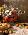 Still life with Flowers & Fruit painting by Claude Monet at J. Paul Getty Museum Center. Malibu, CA.