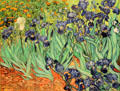 Irises painting by Vincent van Gogh at J. Paul Getty Museum Center. Malibu, CA.