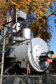 Nose of steam locomotive 2825 at San Bernardino County Museum. Redlands, CA.