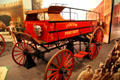 Fire wagon to carry barrels of water to fires at San Bernardino County Museum. Redlands, CA.