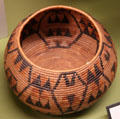 Serrano native basket bowl at San Bernardino County Museum. Redlands, CA.