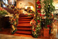 Lobby staircase at Mission Inn. Riverside, CA.
