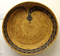 Cahuilla, Soboba basket tray with rattlesnake pattern at Riverside Museum. Riverside, CA.