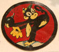 342nd bomb squadron 97th group insignia with bomb throwing monkey at March Field Air Museum. Riverside, CA.