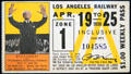 Los Angeles Railway weekly pass features Stokowski at Orange Empire Railway Museum. Perris, CA.