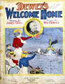 Dewey's Welcome Home sheet music at Orange Empire Railway Museum. Perris, CA.